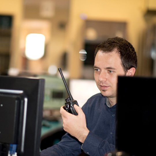 Person using COBRA's incident management system.